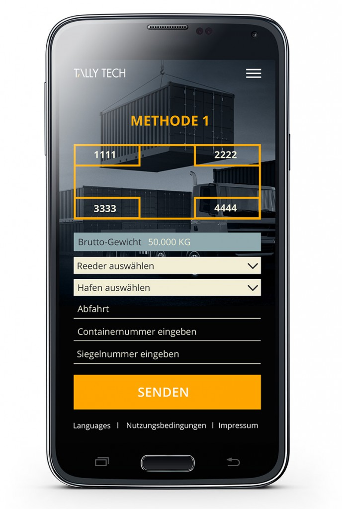 Tally Tech App Screen
